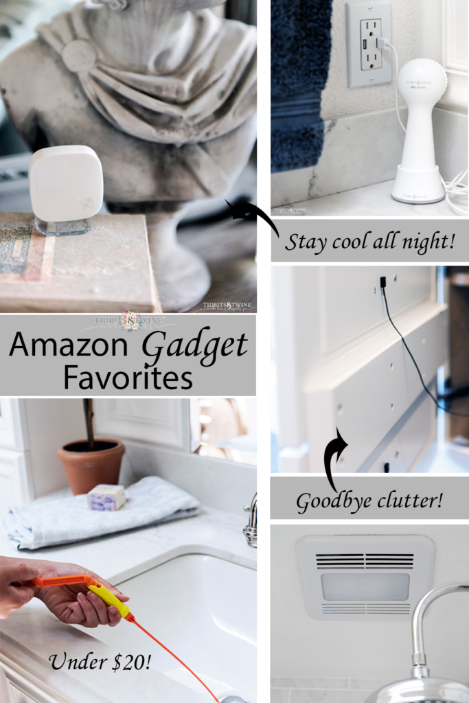 Collage of Amazon gadgets for the home