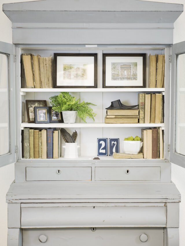 How to Style an Interesting Bookshelf!