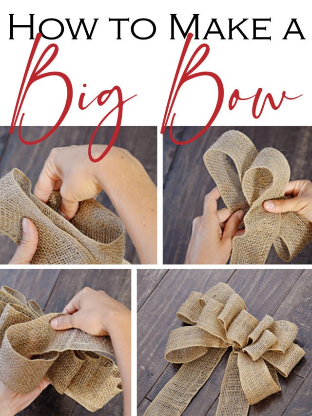 How to Make a Big Bow Out of Ribbon