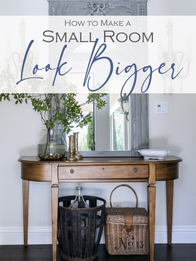 How to Make a Small Room Feel Bigger!
