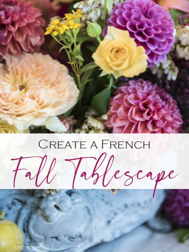 How to Create French Fall Tablescape