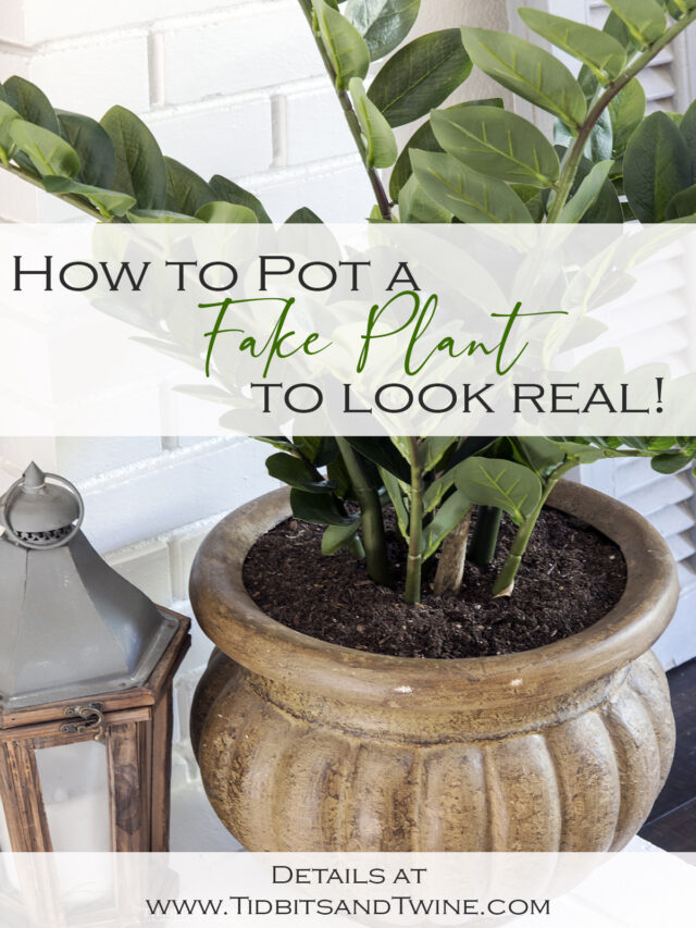 How to Secure a Fake Plant in a Pot